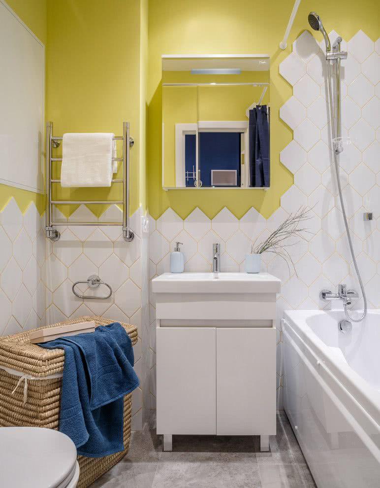 Faça uma meia parede de azulejos para deixar o visual descontraído.