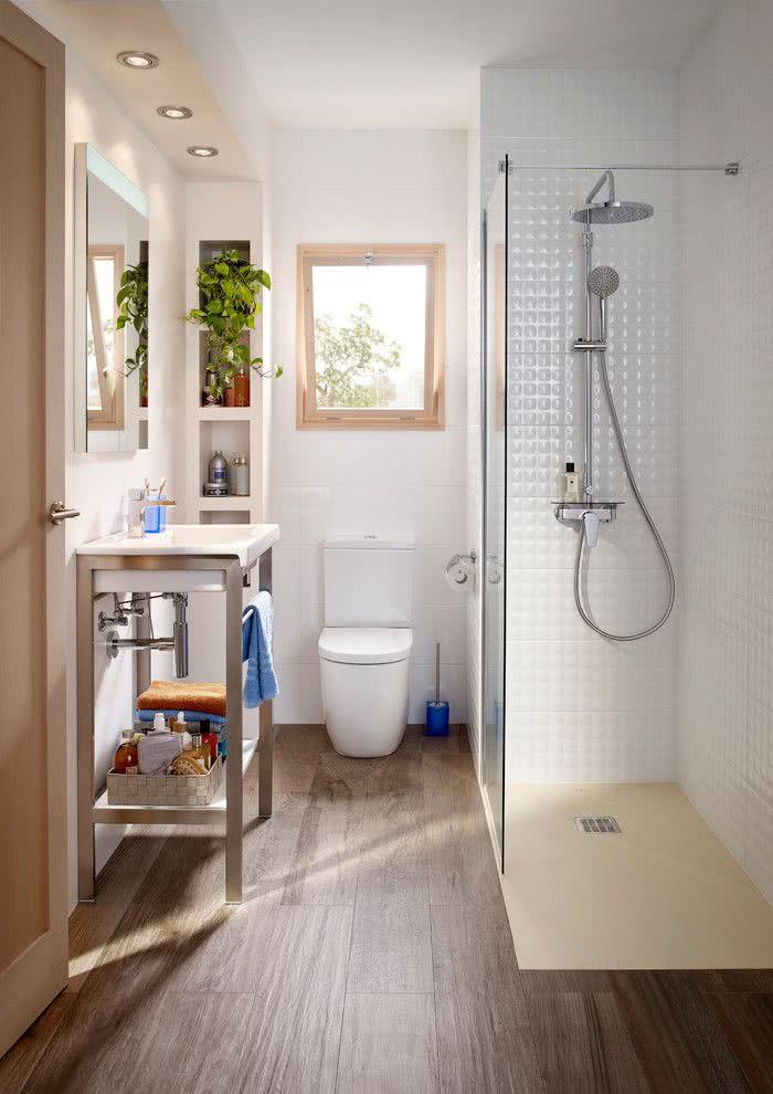 100 banheiros simples e pequenos inspiradores fotos for Cuartos de bano roca