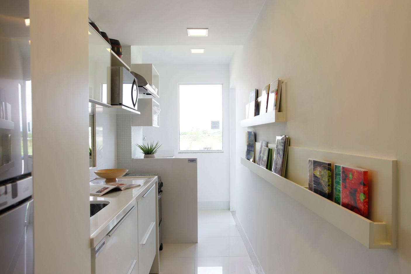 Imagem 12 – Os armários aramados deixa um clima jovial na cozinha  #6D4239 1406 937