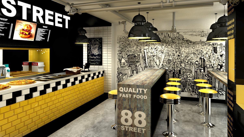 Decora o para restaurantes bares caf s 63 fotos for Bar 88 food menu
