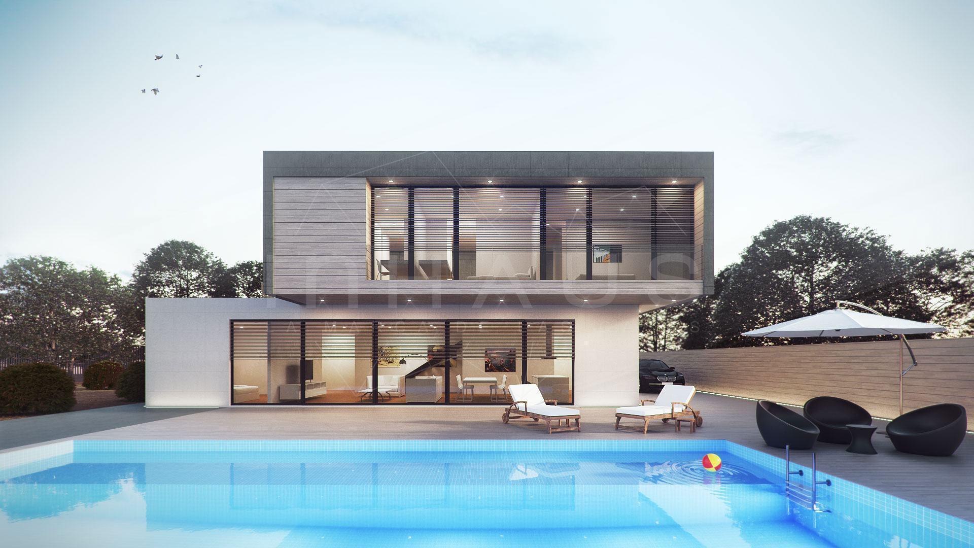 60 fachadas de casas minimalistas modelos fotos - Casas prefabricadas canarias ...