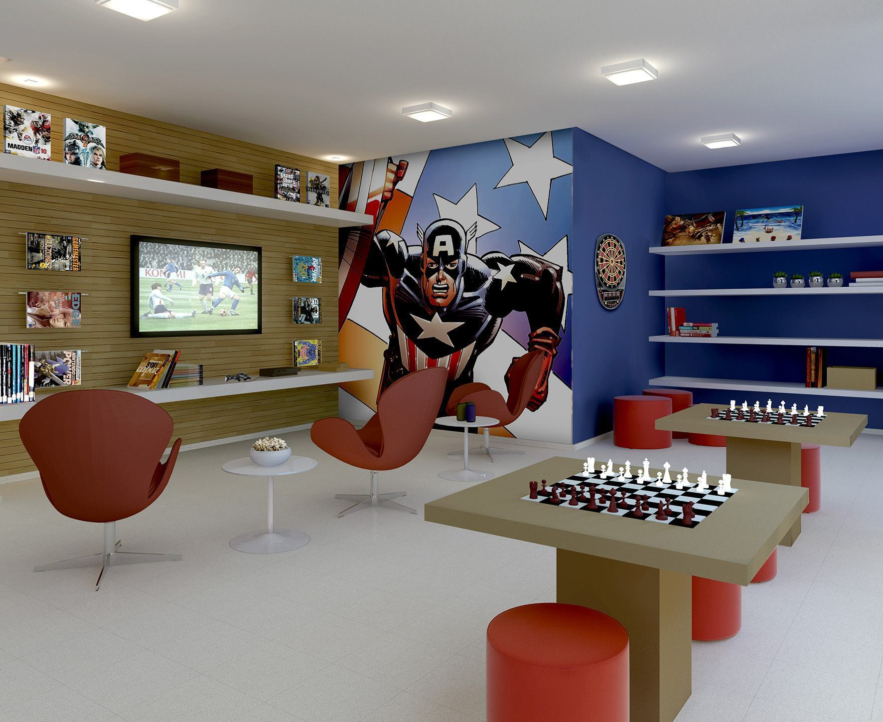 Adesivo De Parede Mapa Mundo ~ Sala de Jogos Decorada 75+ Modelos e Fotos Lindas!