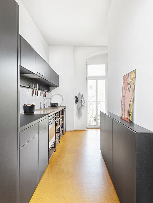 cozinha corredor estreita 60 projetos fotos e ideias. Black Bedroom Furniture Sets. Home Design Ideas