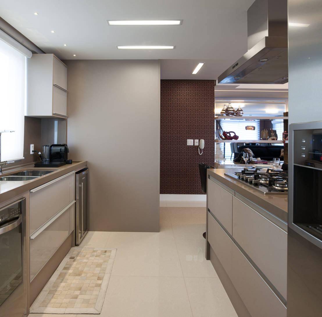 Cozinha cinza 60 modelos projetos fotos lindas for Apartamentos modernos 2016