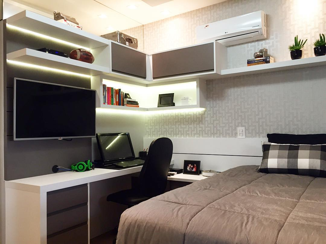 Papel de parede para quarto masculino 60 fotos top for Tapete teenager