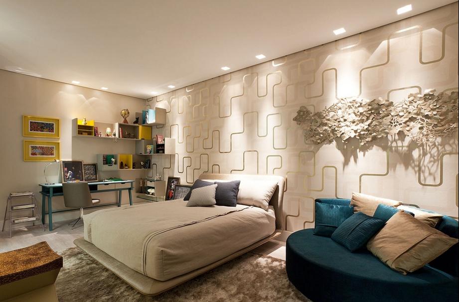 Papel de parede para quarto masculino 60 fotos top - Papel pared moderno ...
