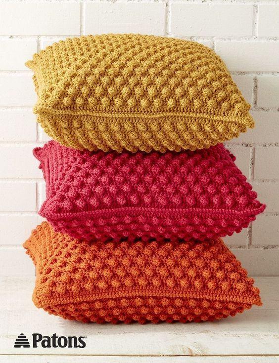 Almofadas de croch 85 modelos fotos ideias lindas Crochet home decor on pinterest