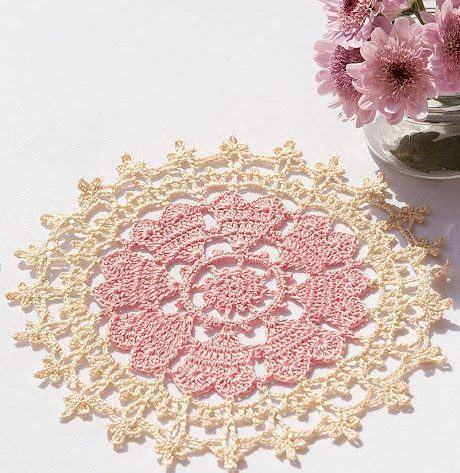Crown of heart crochet doilies by Anabelia 11
