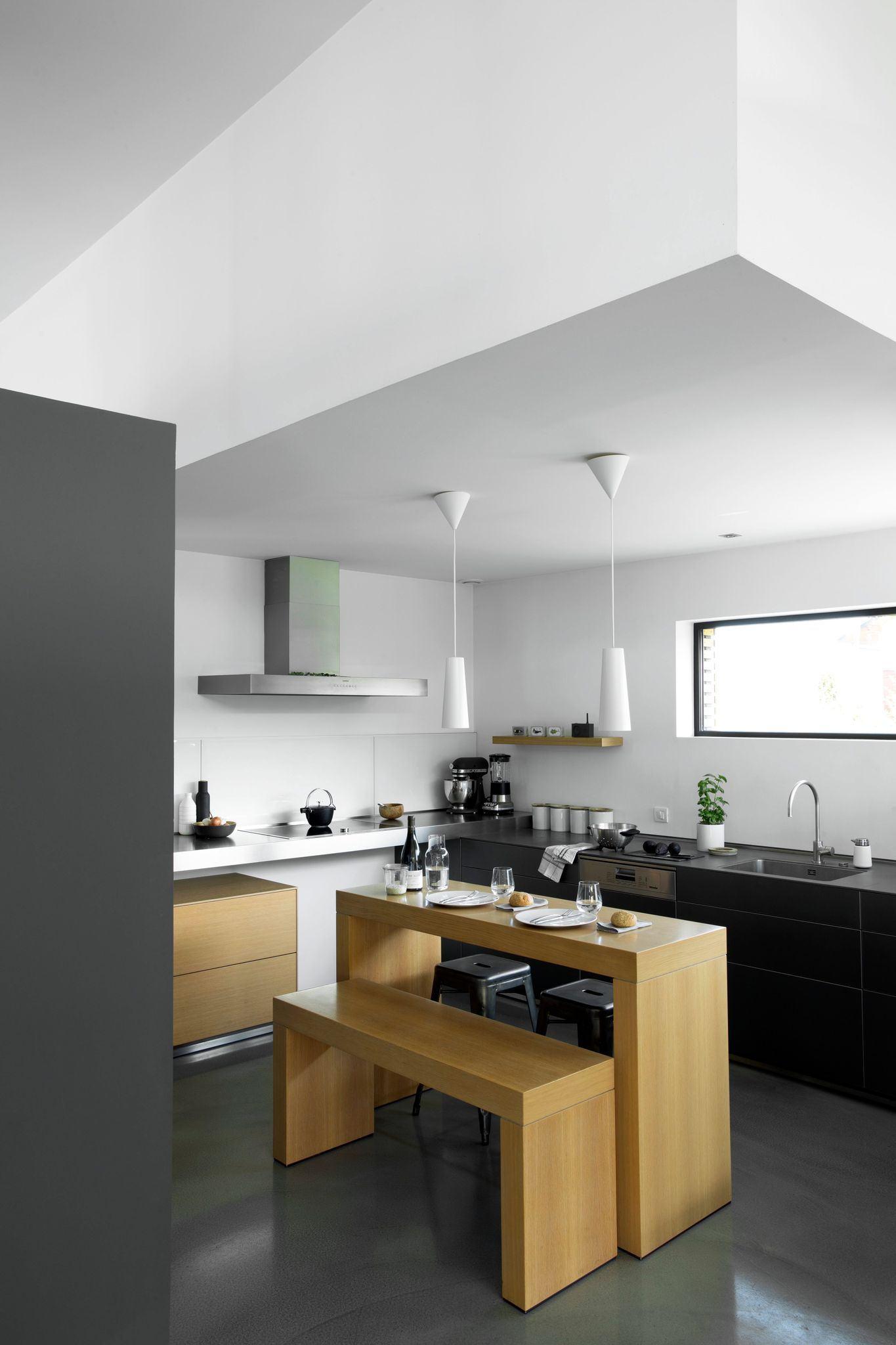Pendentes para cozinha 60 modelos dicas fotos for Cuisine noir mat et bois