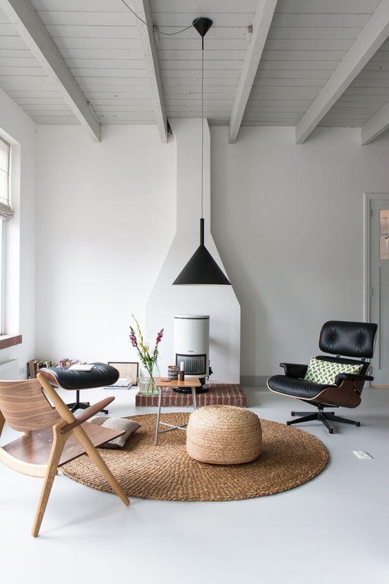 Tapete redondo 60 modelos dicas fotos for Tapetes para sala de estar 150x200