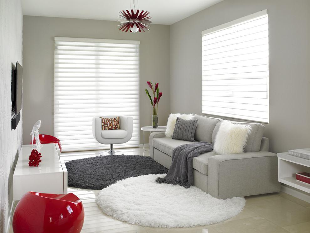 Tapete redondo 60 modelos dicas fotos for Como decorar un salon blanco