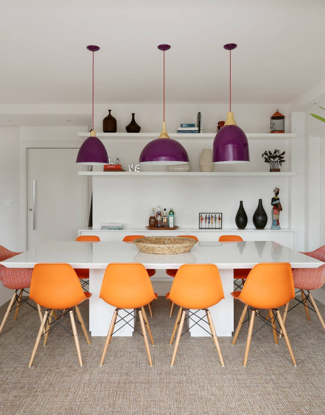 Sala De Jantar Moderna 60 Modelos Fotos Lindas  -> Sala De Jantar Pequena Mesa Redonda Ou Retangular