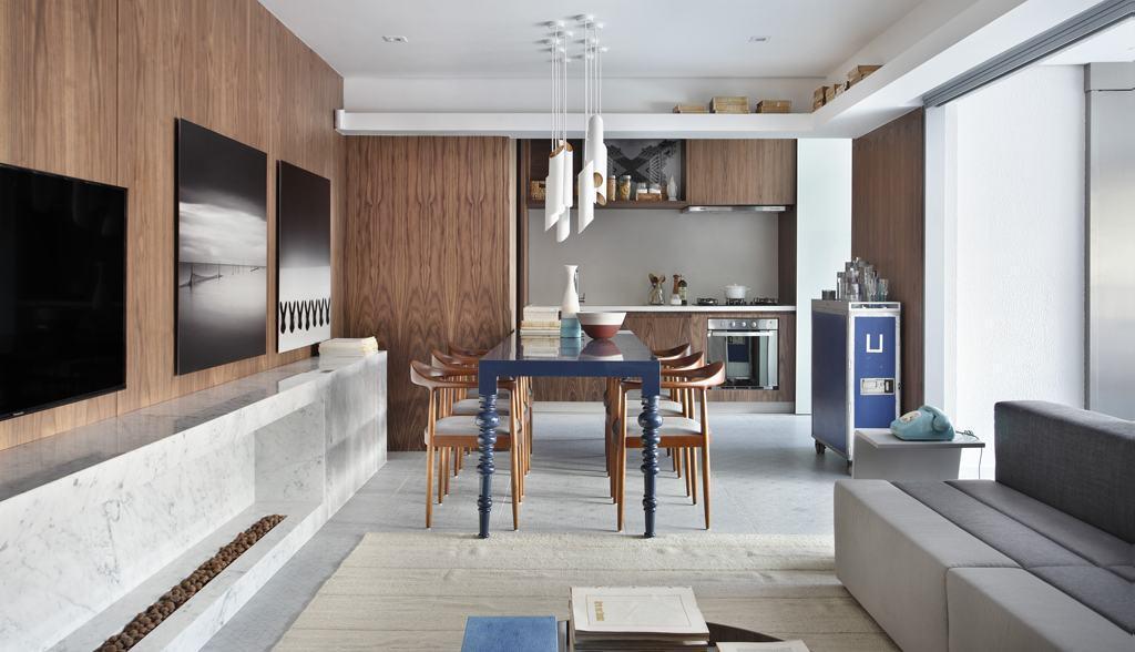 Imagem De Sala De Jantar ~ Imagem 7 – A escolha dos materiais faz diferença para essa sala de