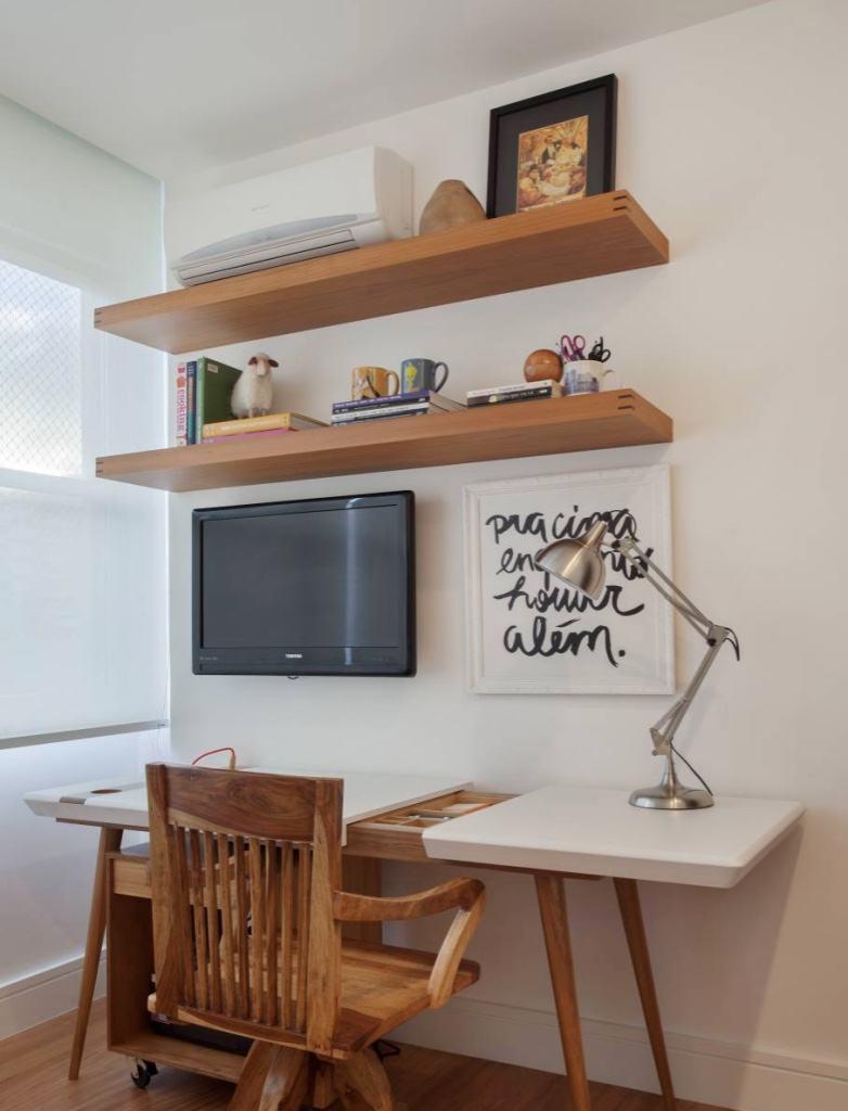 Home office pequeno 60 fotos de decora o - Escritorios para casas pequenas ...