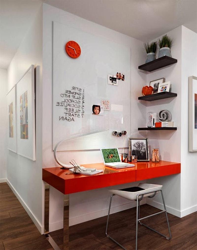 Imagem 10 U2013 Utilize Um Canto Do Quarto Para Montar Seu Home Office Pequeno