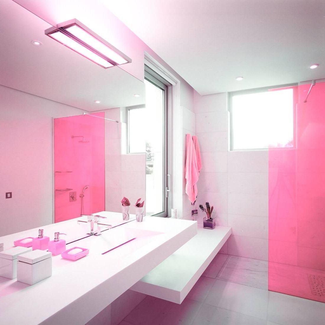 Banheiro Rosa 60+ Modelos & Fotos de Decoração -> Pia De Banheiro Rosa