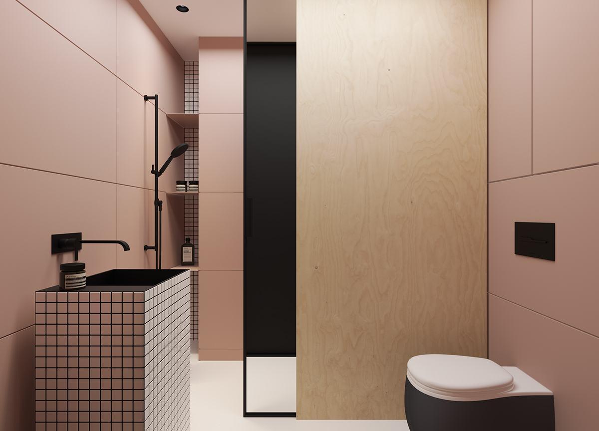 Banheiro Rosa: 60  Modelos & Fotos de Decoração #826249 1200x864 Banheiro Com Pastilhas Rosa
