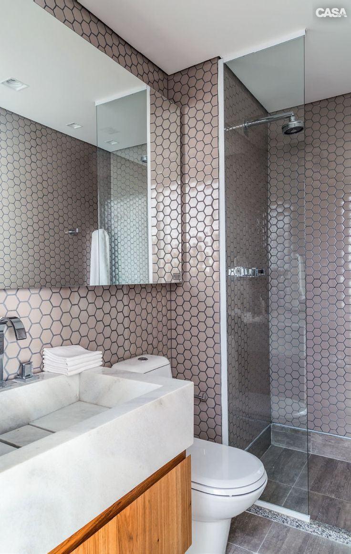 Banheiro Rosa 60+ Modelos & Fotos de Decoração -> Pia Banheiro Classica