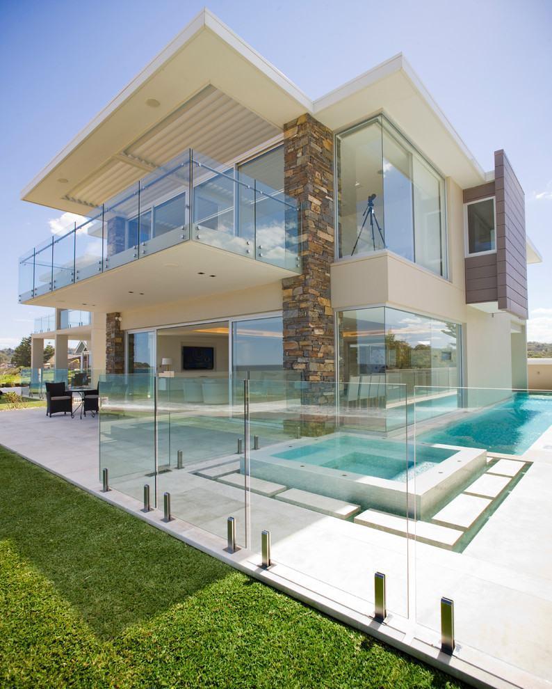 Modern Home Exterior Design Ideas 2017: Casas Com Varanda: 60+ Modelos, Projetos E Fotos