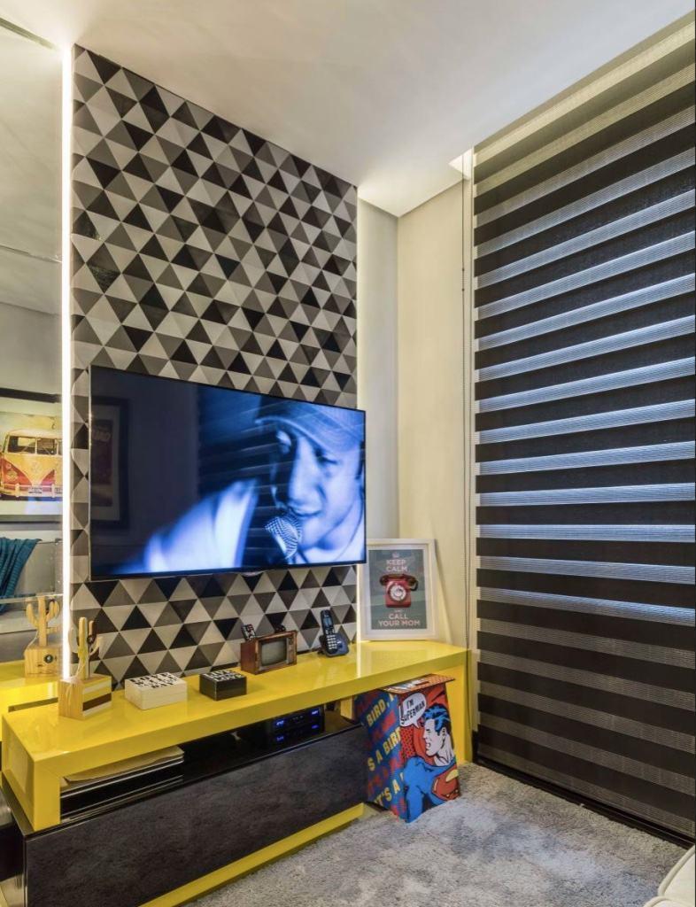 Modelos De Painel Para Tv 65 Tipos E Fotos Incr Veis  -> Painel De Sala Com Ceramica