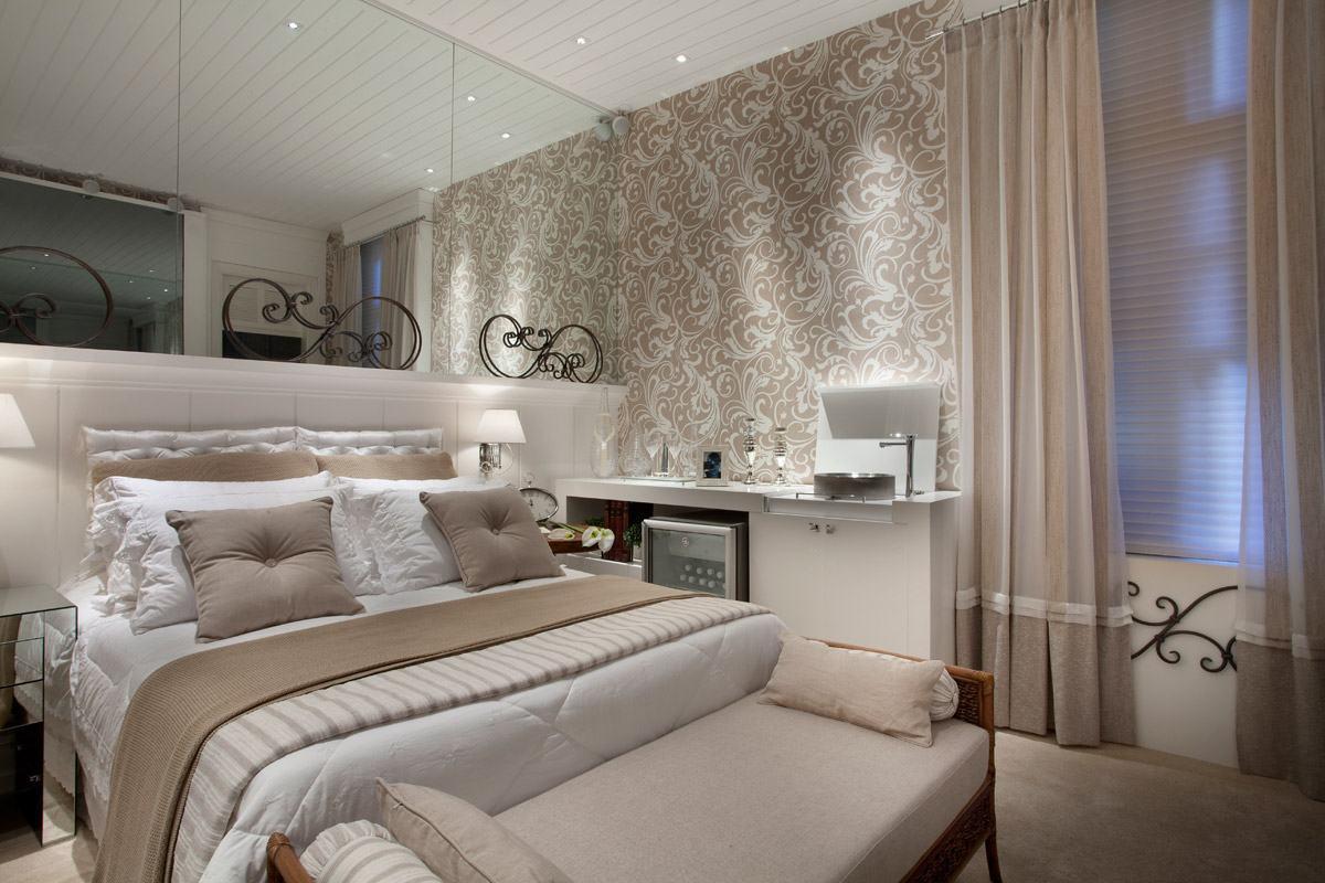 Papel de parede para quarto de casal 60 fotos lindas for Quadros dormitorio