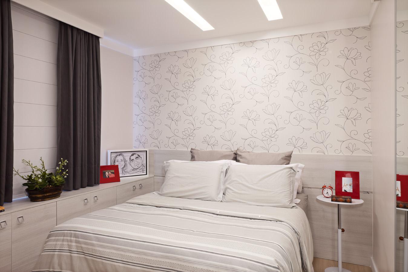 Papel de parede para quarto de casal 60 fotos lindas - Paredes de papel ...