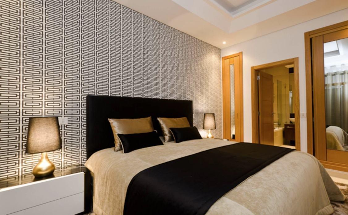 Papel de parede para quarto de casal 60 fotos lindas - Papel decorado para paredes ...
