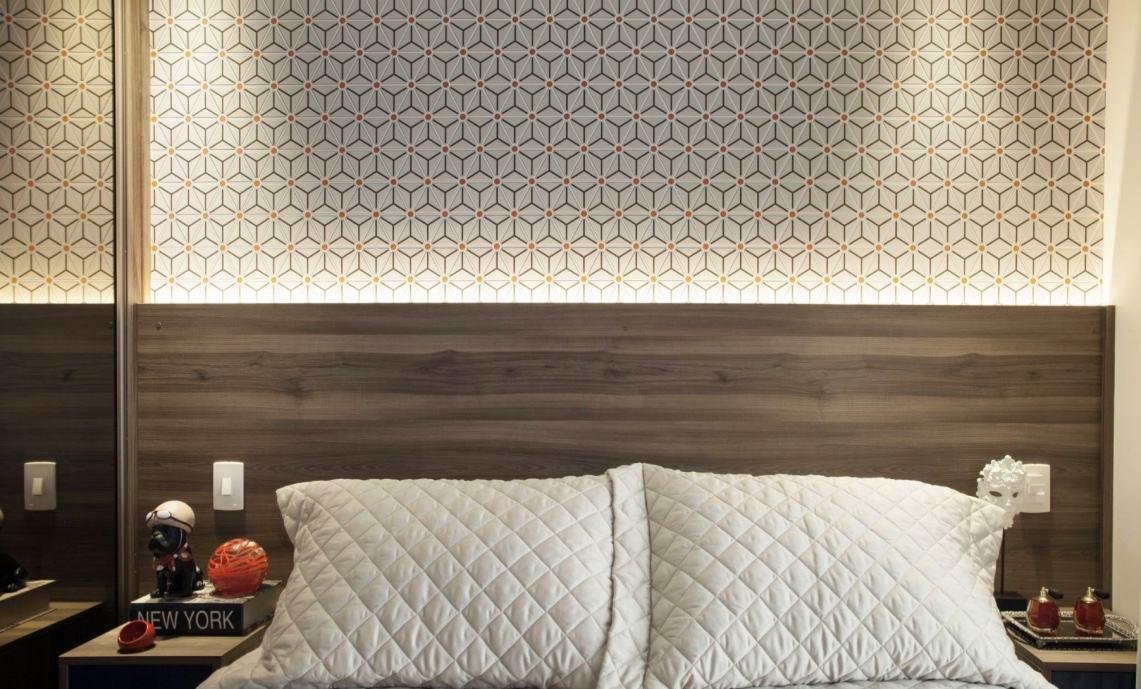 Papel de parede para quarto de casal 60 fotos lindas - Papel pared moderno ...