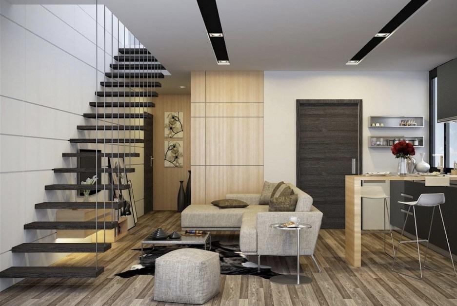 Sala Com Escada 60 Ideias E Referências Incríveis