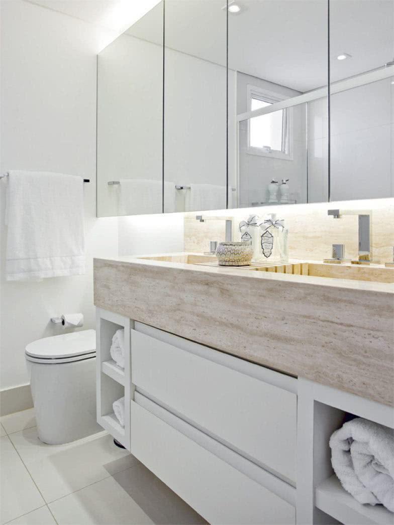 Banheiros Planejados 60+ Modelos e Fotos Incríveis! -> Banheiro Pequeno E Clean