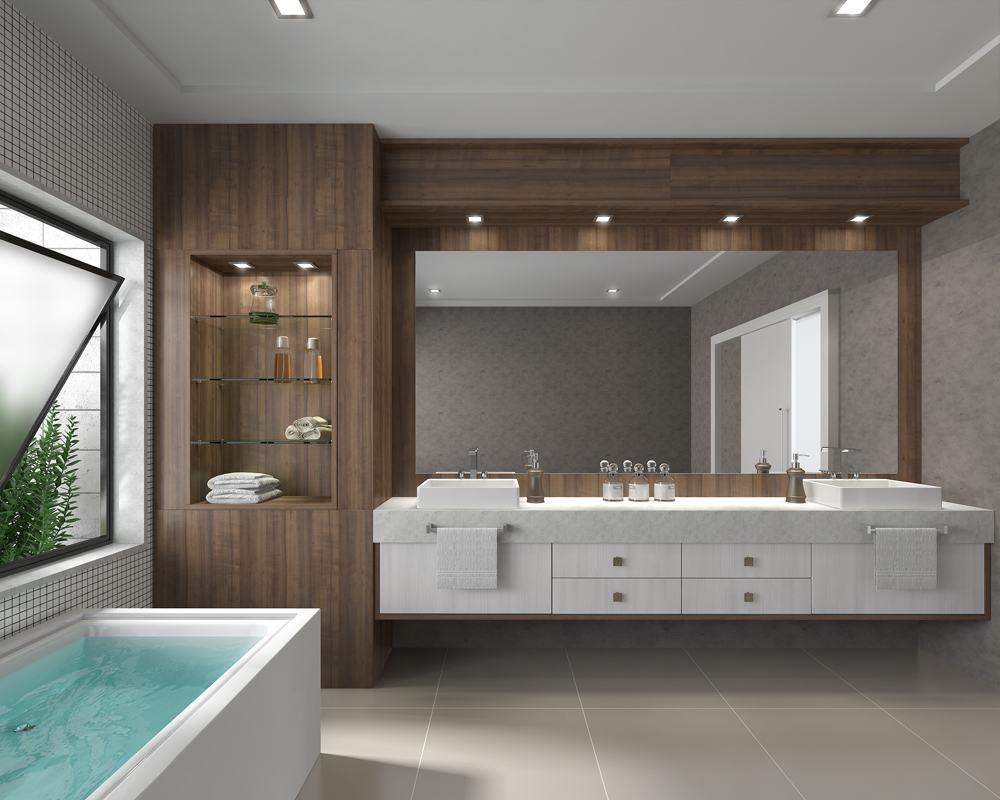 Banheiros planejados 60 modelos e fotos incr veis for Modelos de banos grandes