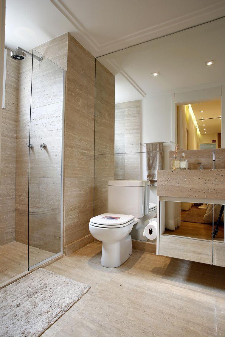 Banheiros Planejados 60+ Modelos e Fotos Incríveis! -> Banheiro Pequeno Piso Grande