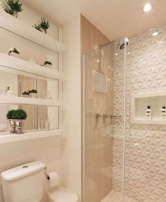 Banheiros Planejados 60+ Modelos e Fotos Incríveis! -> Armario Banheiro Muito Pequeno