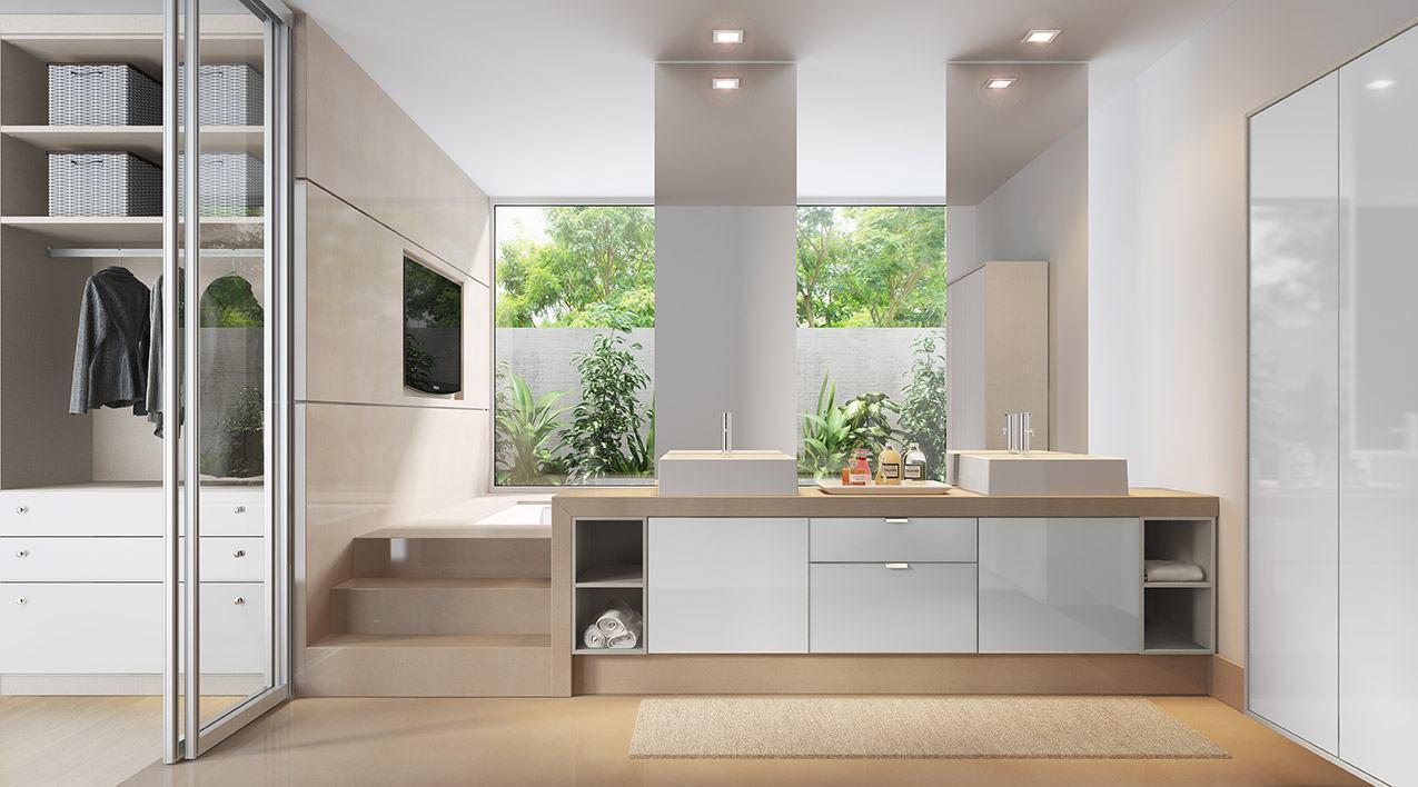 Banheiros Planejados 60+ Modelos e Fotos Incríveis! -> Balcao Banheiro Planejado