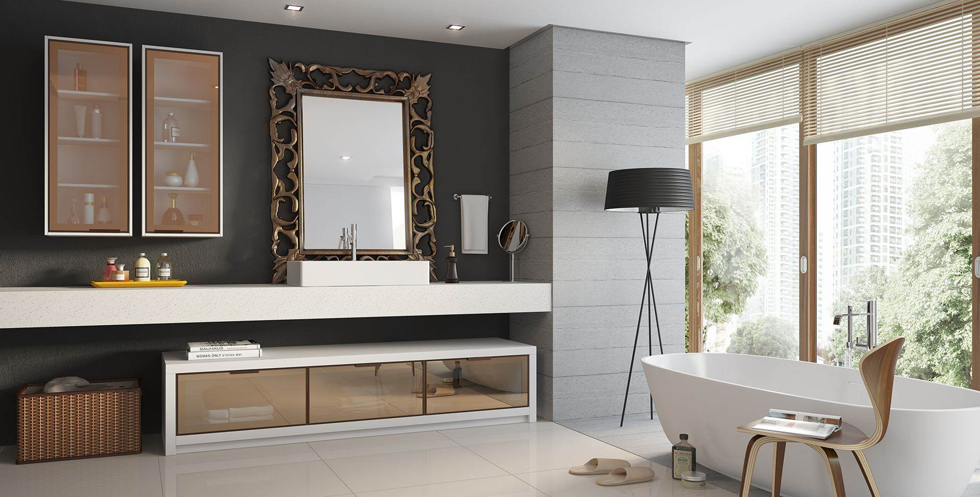Banheiros Planejados 60+ Modelos e Fotos Incríveis! -> Banheiro Planejado Pia