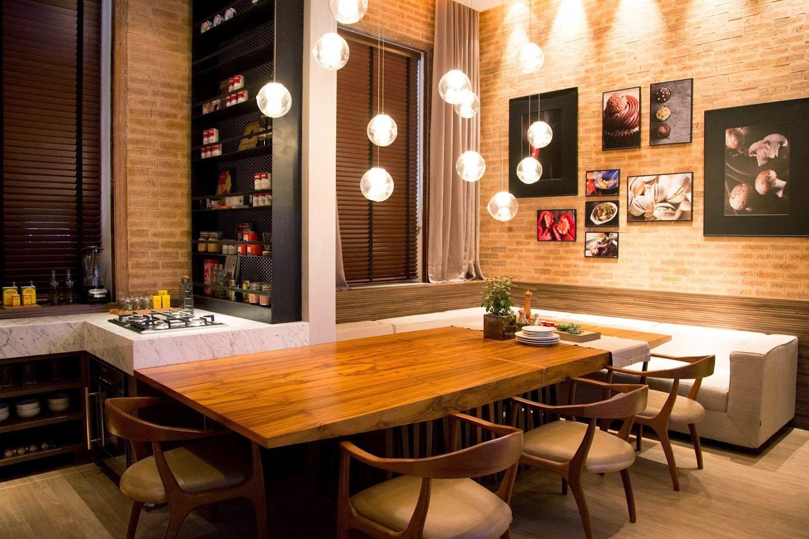 Canto Alem O 60 Projetos Modelos E Fotos Lindas  -> Cozinha Integrada Com Sala De Jantar Pequena