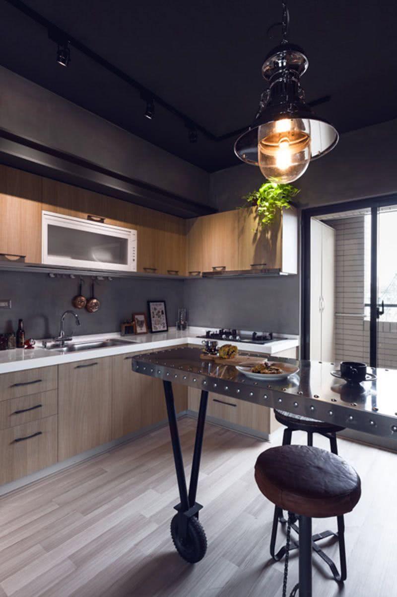 Abuse do inox para a cozinha com estilo industrial