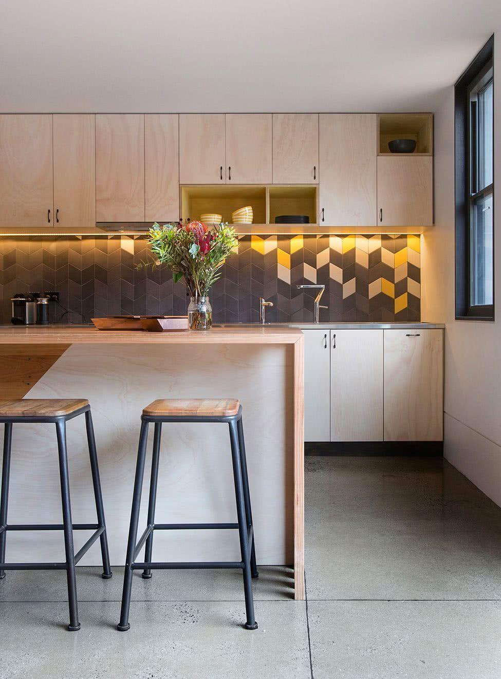 Azulejos Para Cozinha Moderna Banco De Imagem Branca Cermico
