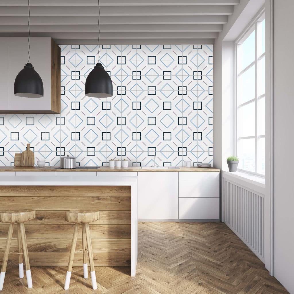 Desenho geométrico na cozinha