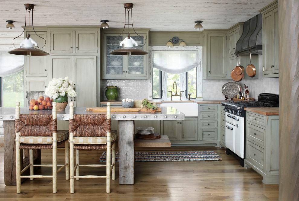 Projeto de cozinha rústica com armários