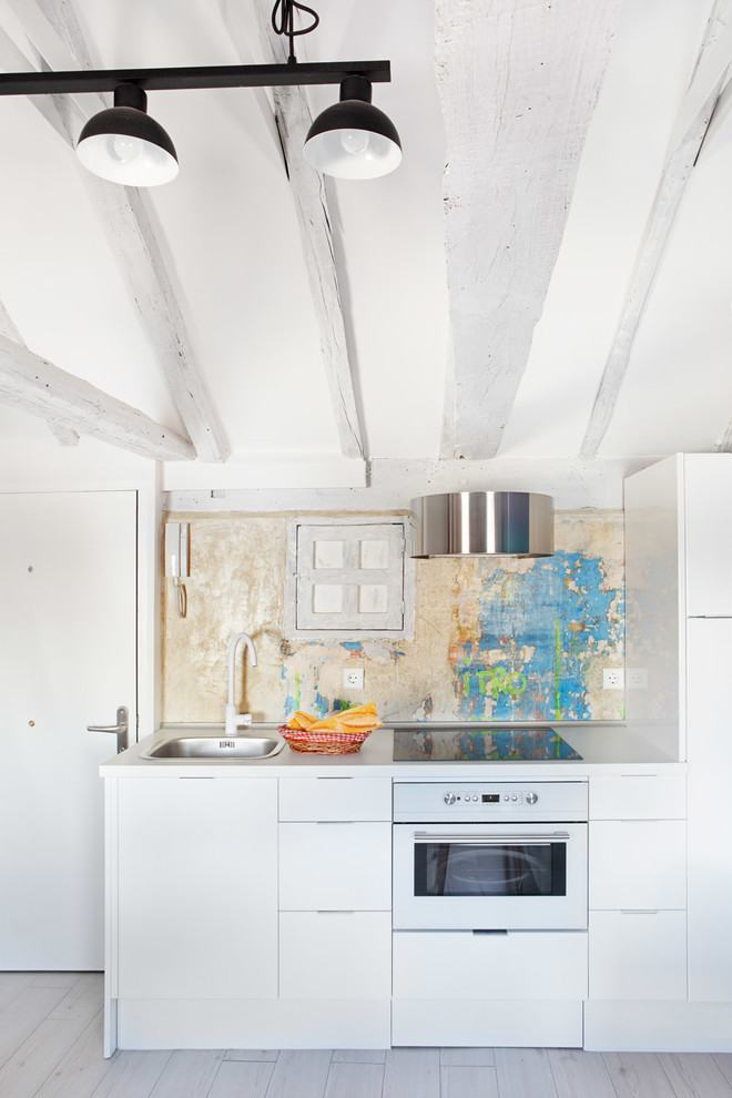 Cozinha branca no estilo escandinavo