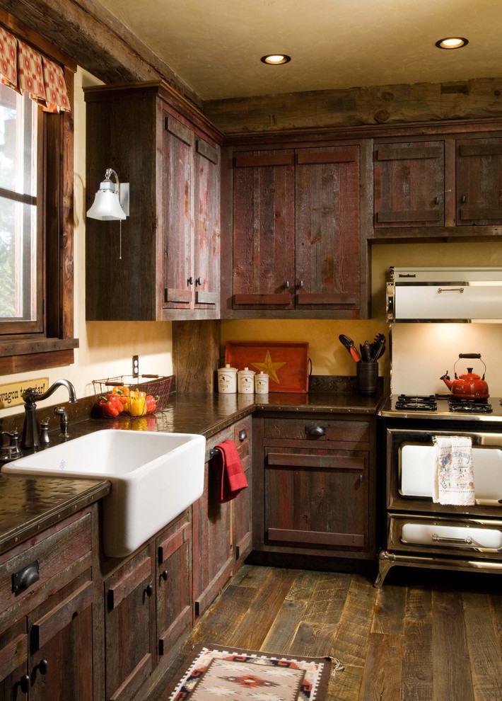 Armário rústico na cozinha