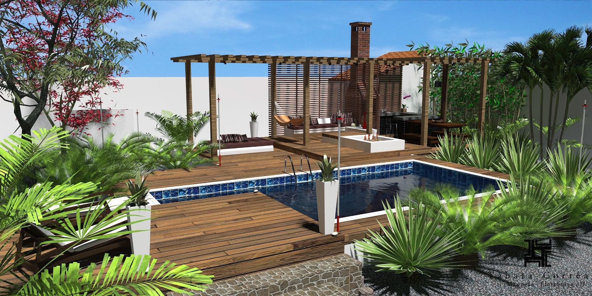 A casa da piscina valorizou a área externa