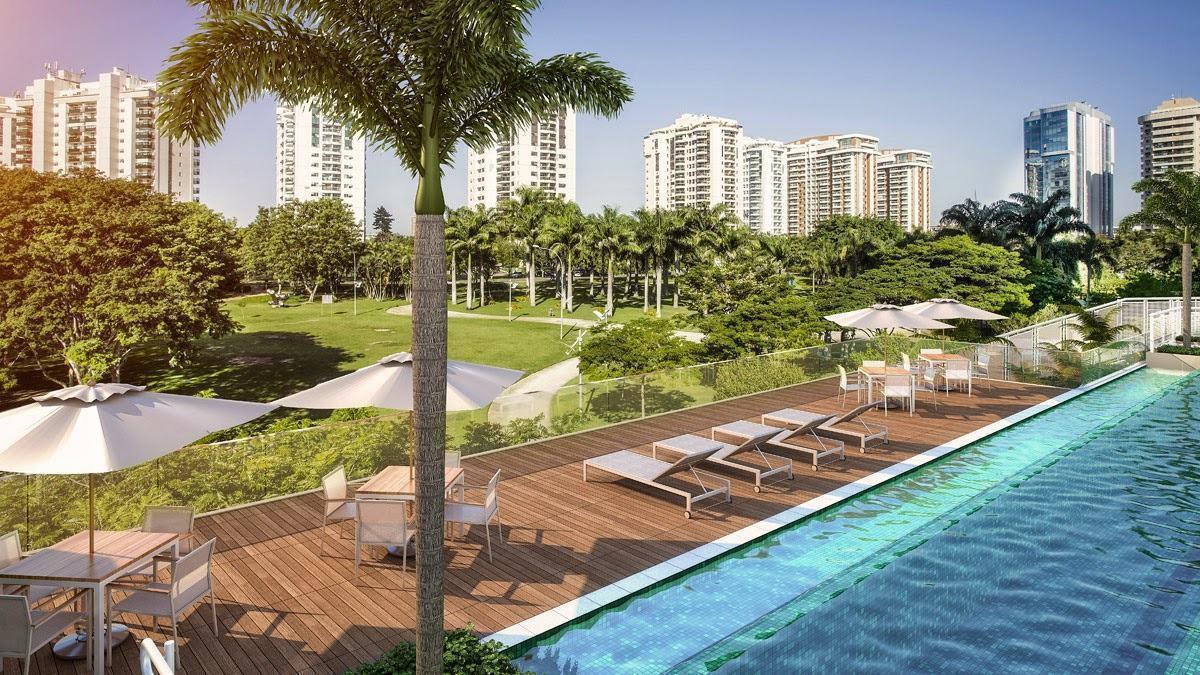 Para edifícios residenciais o deck na piscina sempre agrega o projeto