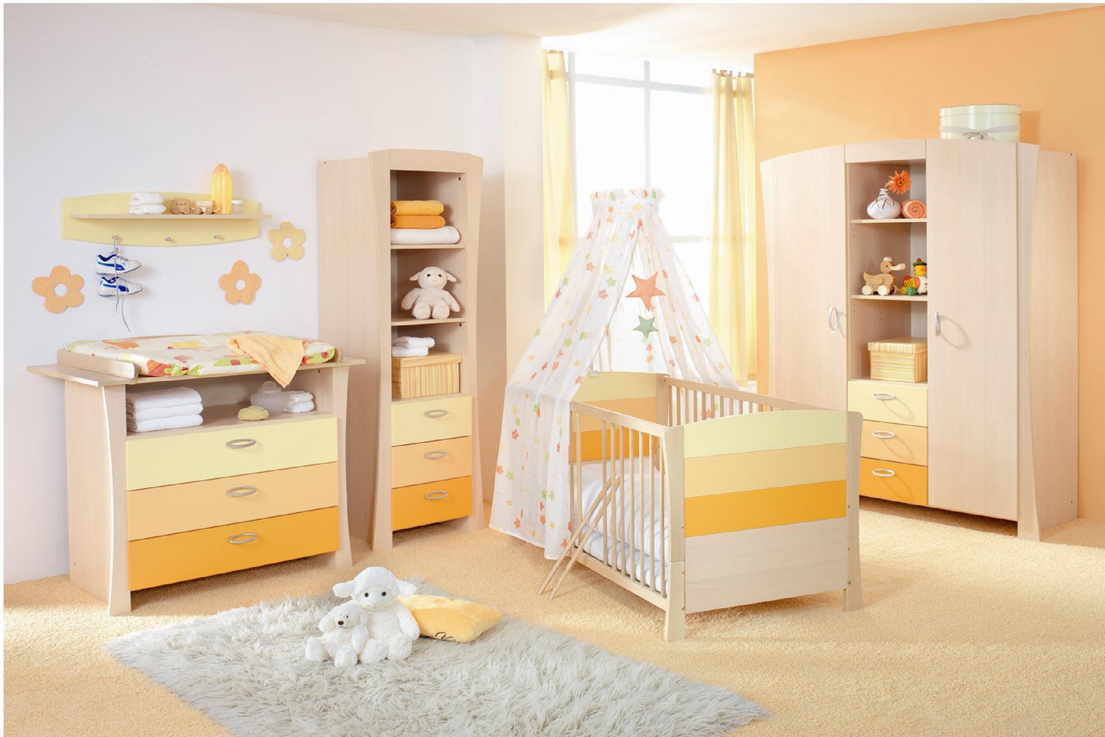 O quarto pode brincar com tonalidades do amarelo