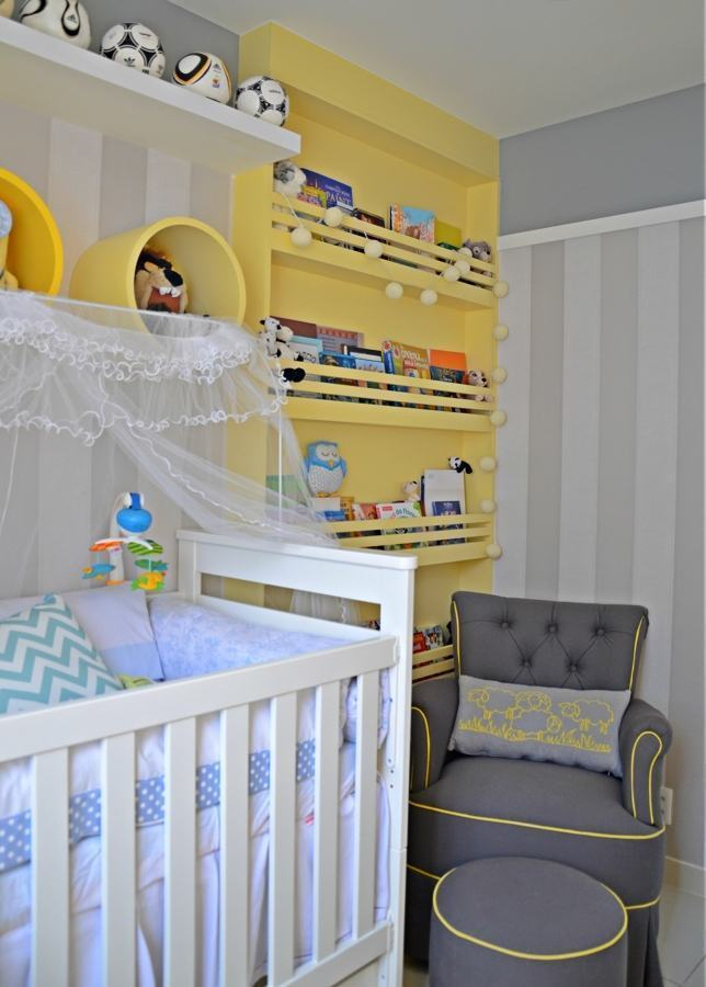 Quarto de Bebê Amarelo 60+ Modelos e Dicas Incríveis!
