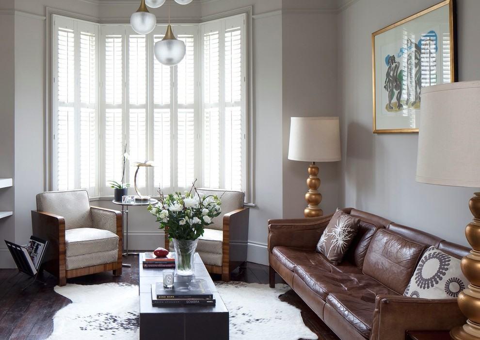 Sala De Estar Com Marrom ~ protagonista da decoração em sala de estar com cores neutras