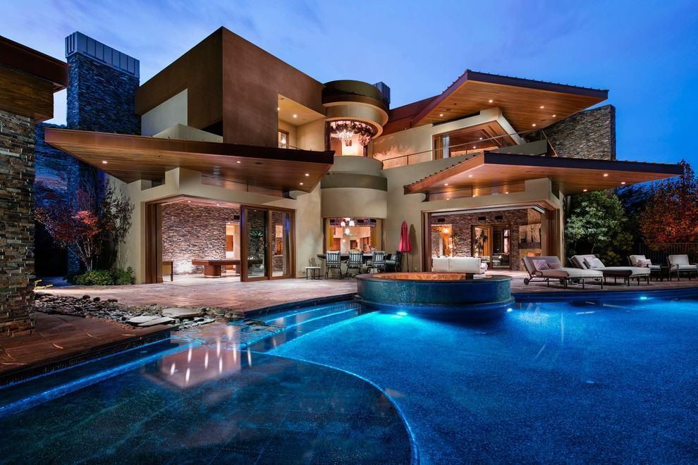 Casas luxuosas e chiques 72 modelos e fotos incr veis for Fotos de modelos en piscinas