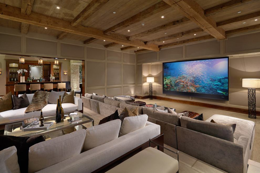 Casas luxuosas e chiques 72 modelos e fotos incr veis - Television en casa ...