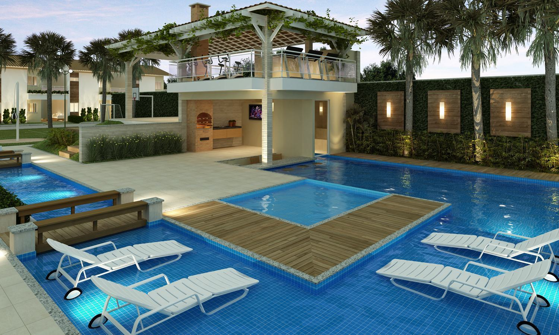 Ed cula com churrasqueira 60 modelos e fotos lindas - Fotos de piscinas ...